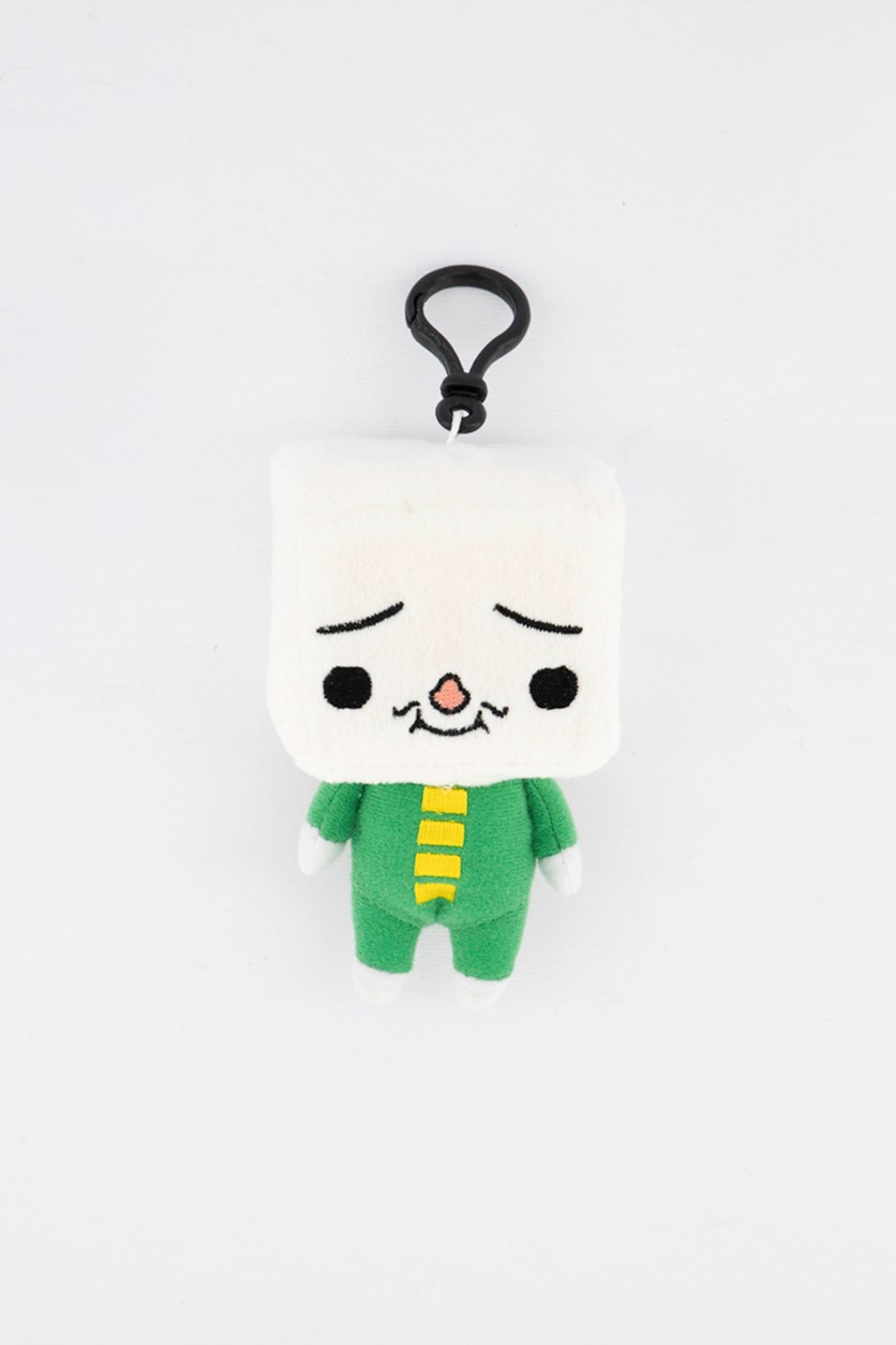 Plush Clip On, White/Green