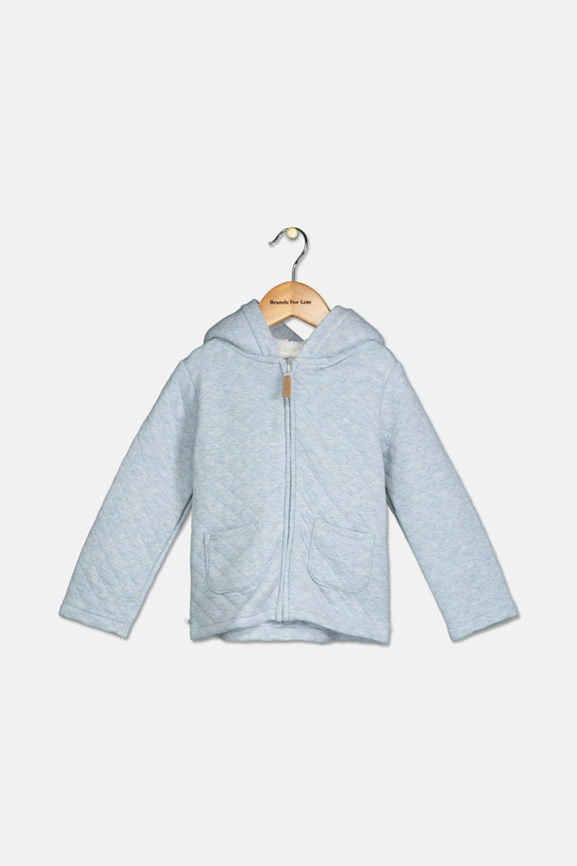 Carter's Baby Boys Hooded Quilted Jacket, Medium Blue