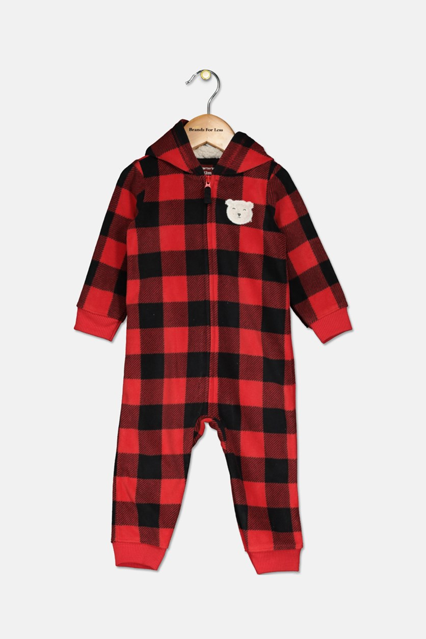 Carter's Toddler Boys' Fleece Buffalo Check Jumper, Red