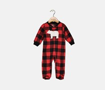 Toddler Boy's Checkered Bodysuit, Red/Black