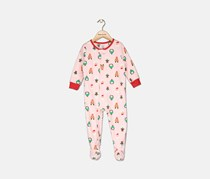 Carter's Infant Girls' Christmas Santa Overall, Pink