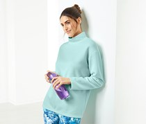Women's Pullover Running Knit Top, Aqua