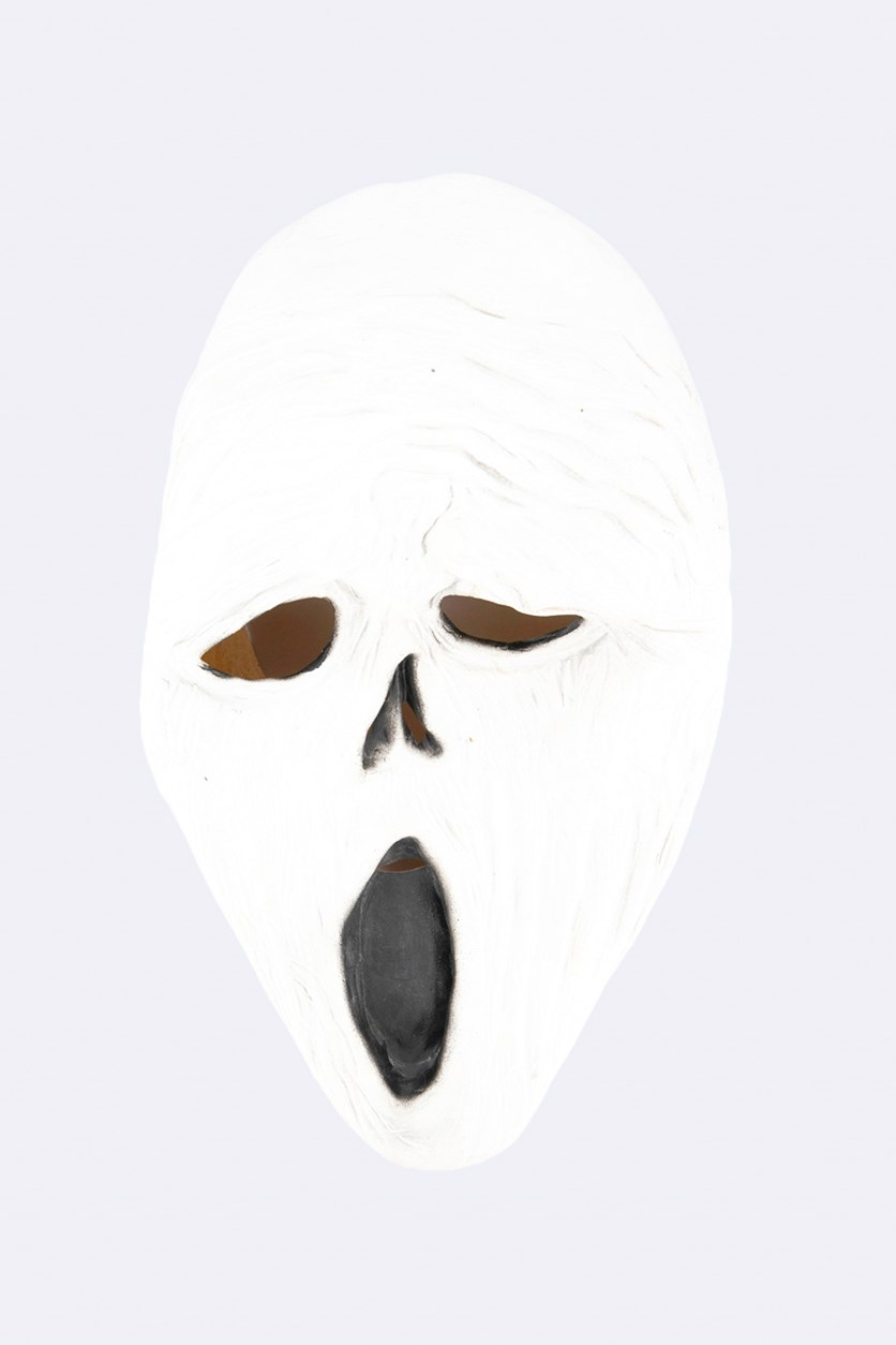 Horror Scream Mask, White/Black