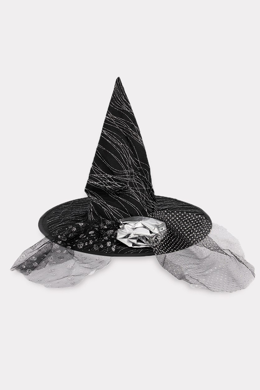 Witch Hat, Black/Silver