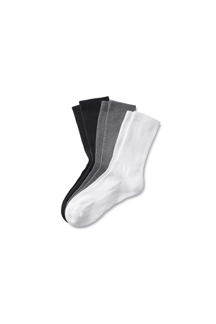 Unisex Sport Socks, Heather Gray/White/Black