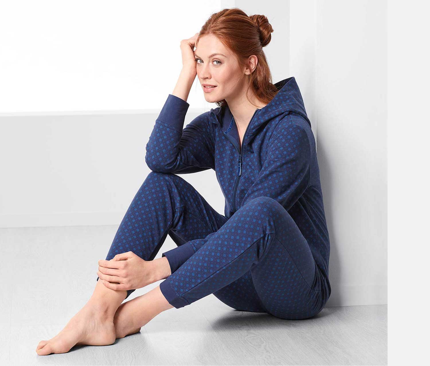 Women's Overall Sleepwear, Navy