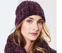 Women's Knitted Hat, Burgundy