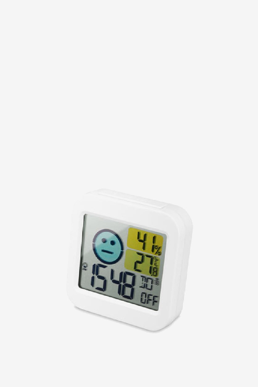Digital Hygrometer And Thermometer, White