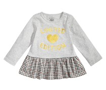 First Impressions Toddler Girls  Peplum-Hem Cotton Top, Gray