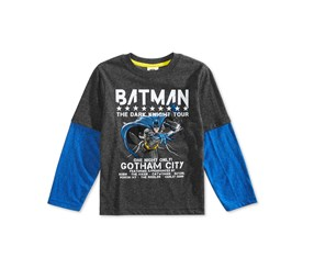 Dc Comics Toddler Boys Batman Graphic T-Shirt, Gray