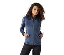 Reebok Women's Velvet Satin Track Top, Smokey Indigo
