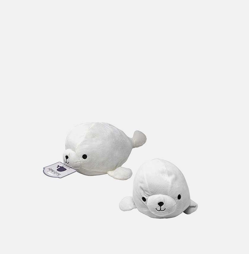 Sea Lion With Rattle Soft Toys, White