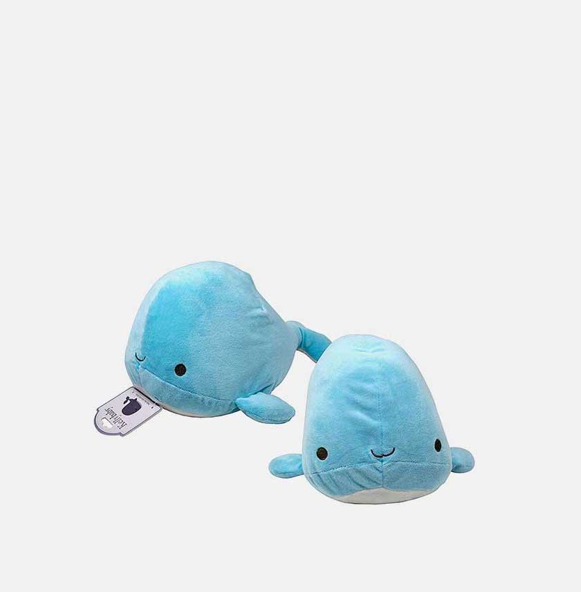 Baby Whale With Rattle Soft Toys, Blue