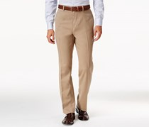 Louis Raphael Men's Hidden Extention Straight-Fit Dress Pants, Khaki
