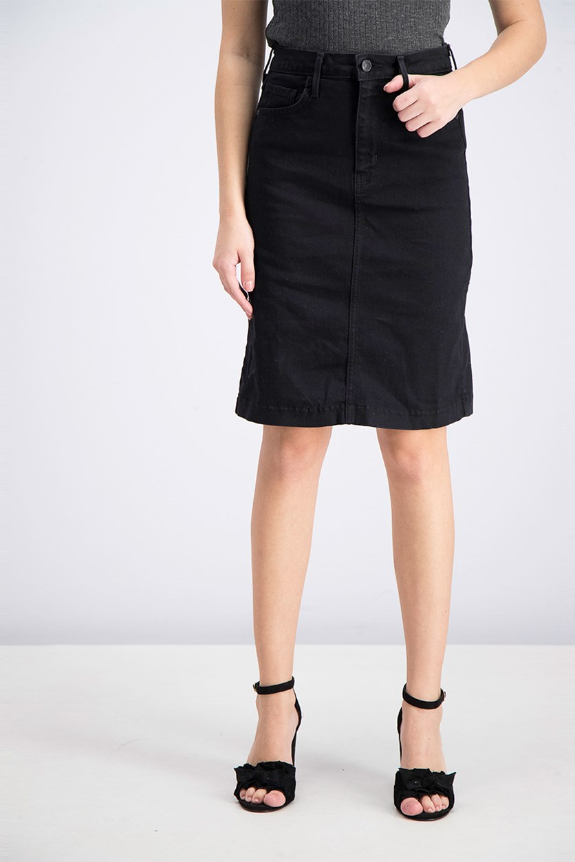 Women's Denim Skirt, Black