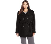 Calvin Klein Women's Plus-Size Wool-Blend Coat, Black
