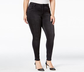 Celebrity Pink Plus Size Super-Soft Skinny Jeans, Black