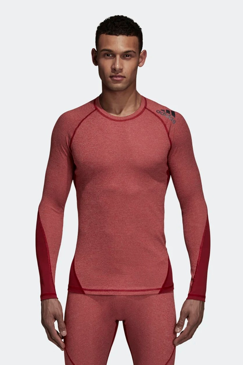 Men's Alphaskin Sport Heather Tee, Maroon Heather