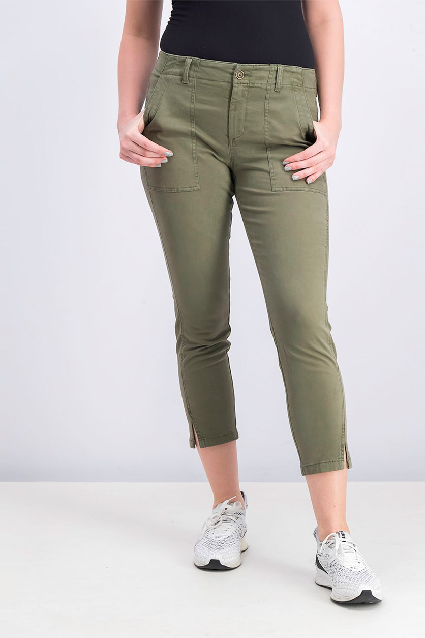Women's High Rise Zoeey Crop Pants, Olive
