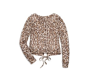 Splendid Girl's Animal Print Top, Brown