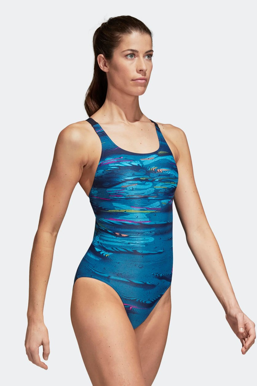 Women's Parley Swimming Suit, Blue/Ink