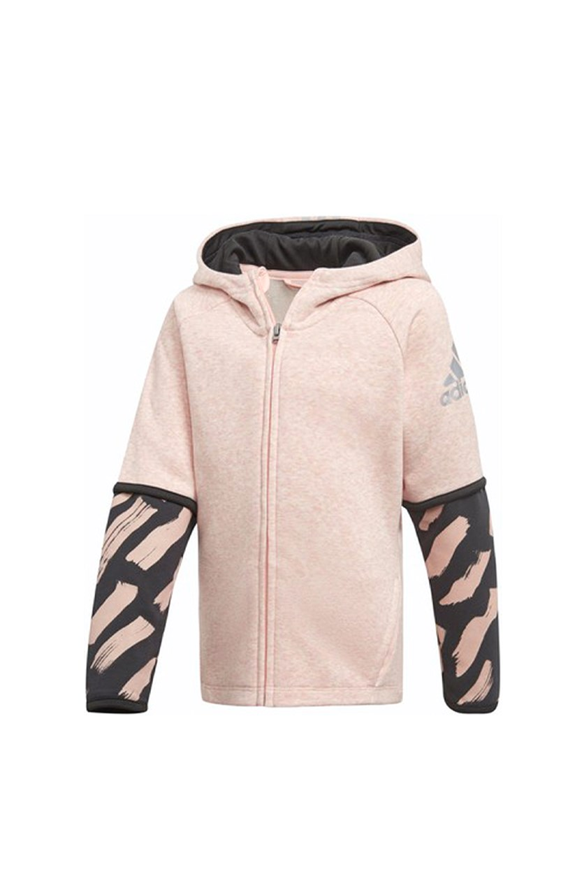 Kids Girls Cover-Up Hoodie, Pink Combo