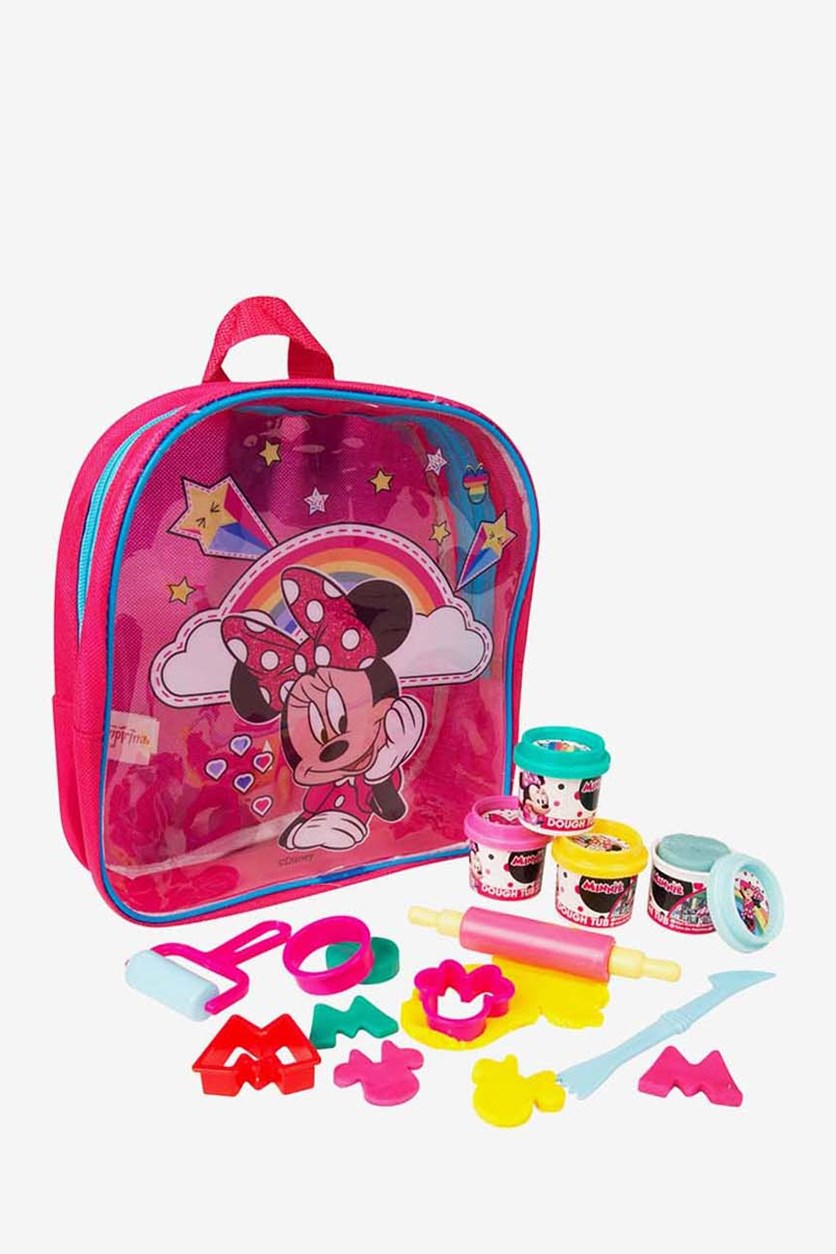 Minnie Dough Filled Backpack, Pink/Blue
