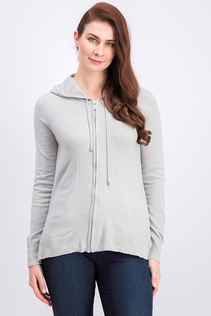 Women's Hooded Sweater, Grey