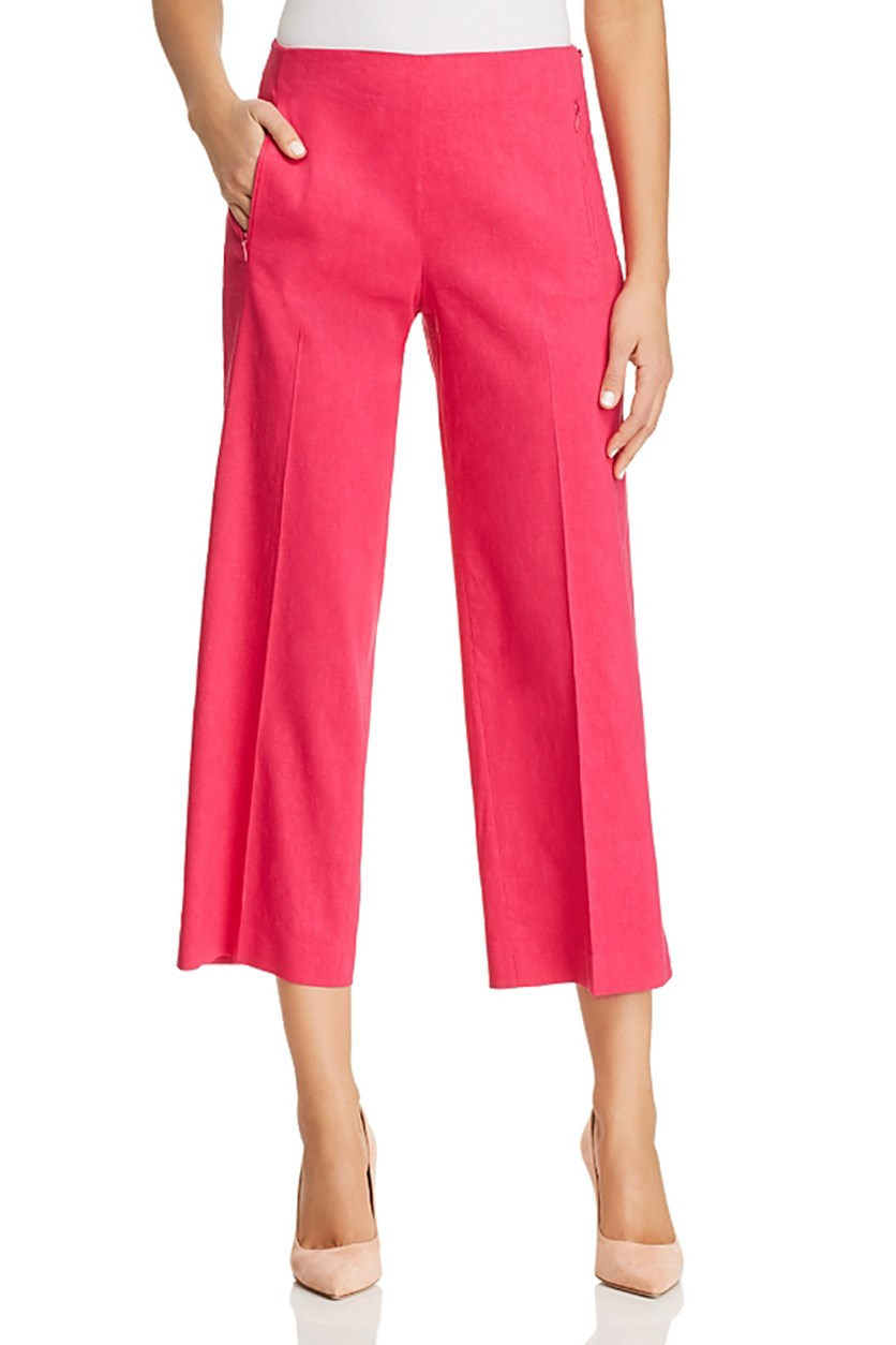 Odette Cropped Wide-Leg Pants, Amour