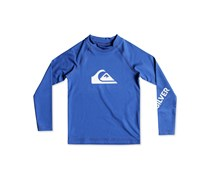 Quiksilver Boy's Graphic-Print Rash Guard, Blue