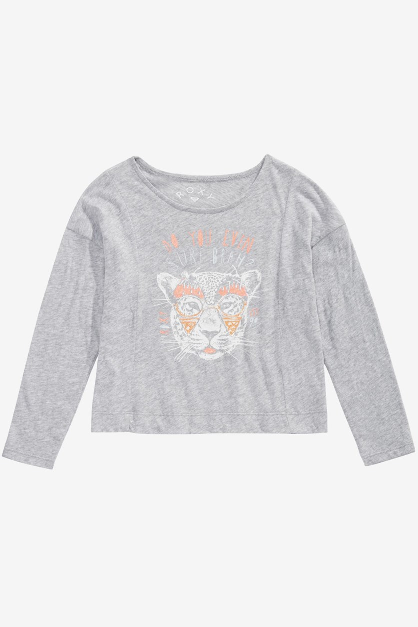 Little Girls Graphic T-Shirt, Grey