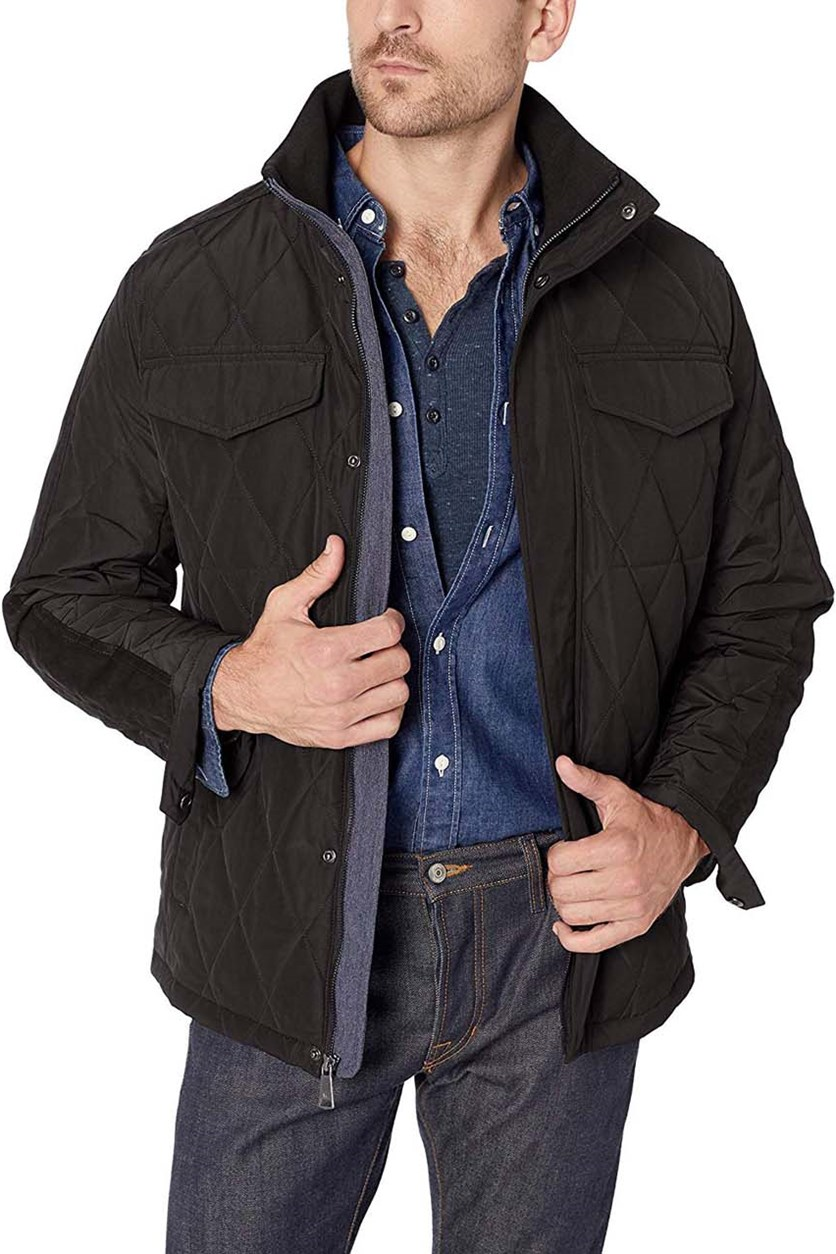 Men's Ultra Oxford Quilt Jacket, Black