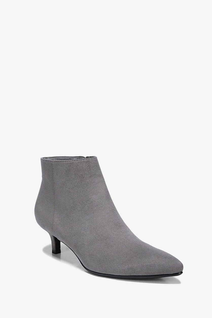Women's Giselle Faux Suede Ankle Booties, Gray