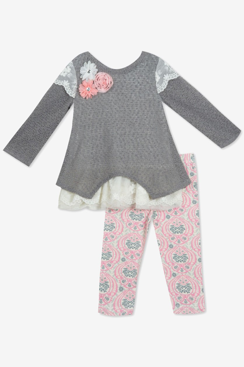 Toddler Girls 2-Pc. Tunic & Leggings Set, Grey