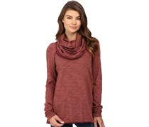 Free People Womens Beach Cocoon Knit Sweater, Terracotta