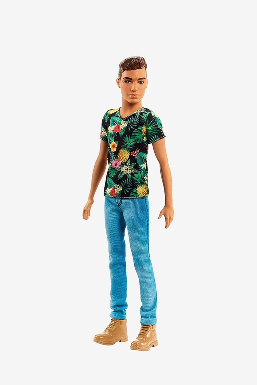 Ken Fashionistas Doll, Tan/Green Combo