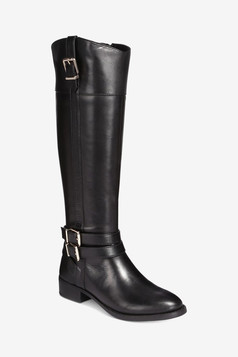Women's Frankii Riding Boots, Black