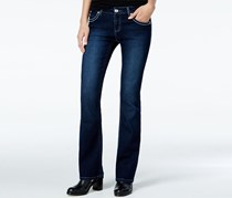 Freestyle Women's Embellished Amari Bootcut Jeans, Navy