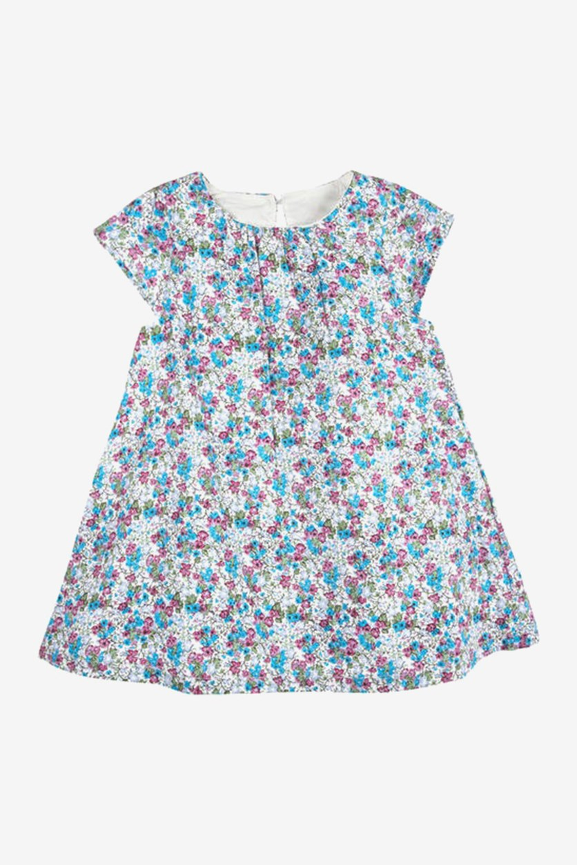 Little Girls' Floral Dress, Lavender Ditsy