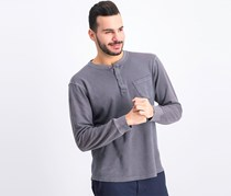 Men's Pocket Front Long Sleeves Sweater, Gray