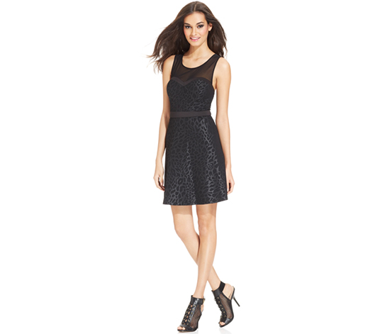 Guess Women's Flared Cocktail Dress, Black