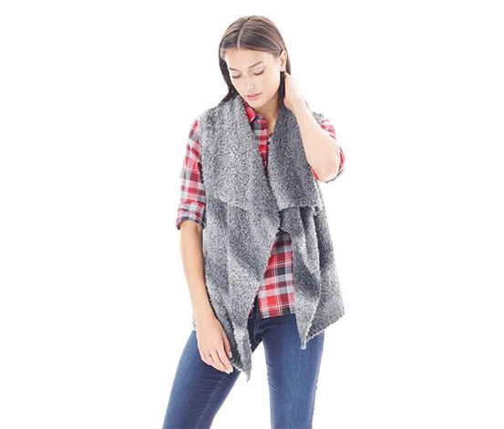 GH Bass & Co. Women's Ombre Vest, Gray Dust Combo