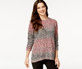 G.h. Bass & Co. Ombre-Stripe Sweater, Apple Combo