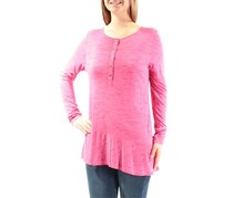 GH Bass & Co. Women's Space Dye Top, Pink