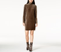 Mink pink Ribbed Velvet Dress, Olive Gray