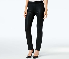 Dkny Jeans Skinny Coated Jeggings, Black