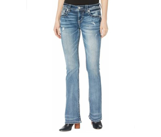 Miss Me Women's Embellished Bootcut Jeans, Blue
