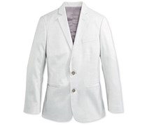 Calvin Klein Boy's Tick Weave Jacket, Light Grey