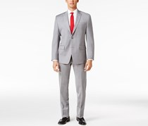 Michael Kors Men's Classic-Fit Sharkskin Peak Lapel Suit, Gray