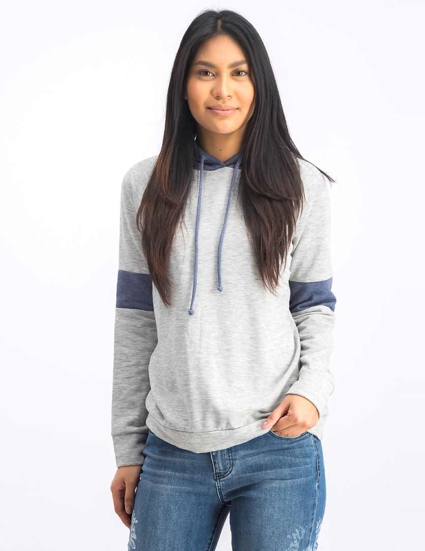 Women's Long Sleeve Sweater, Grey